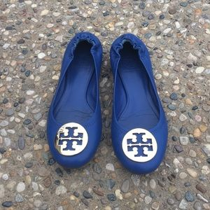 Tory Burch Reva Royal Blue Flats